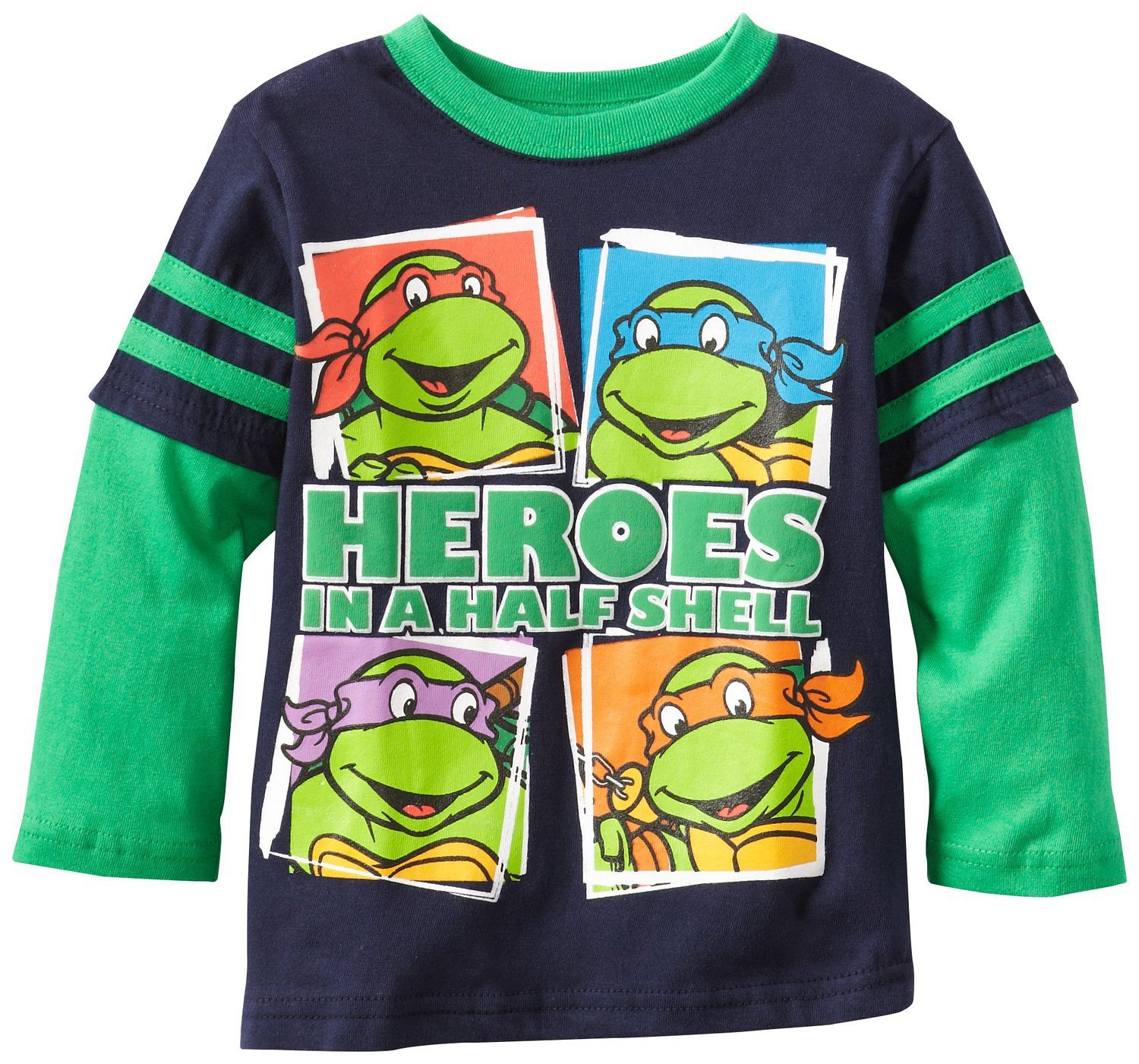 Spring And Autumn Childrenswear Teenage Mutant Ninja Turtles Children Base Shirt T-shirt BOY'S Base Shirt Long-sleeved T-shirt N