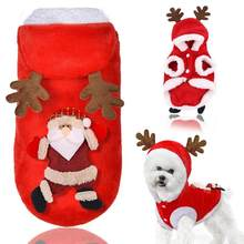 Christmas Dog Clothes Santa Elk Costume for Pug Chihuahua Yorkshire Pet Cat Clothing Jacket Coat Pets Costume Coat Winter Hoodie(China)