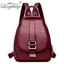 2019 designerskie plecaki damskie skórzane plecaki plecak szkolny damski dla nastolatek dziewczyny torba podróżna Retro Bagpack Sac a Dos