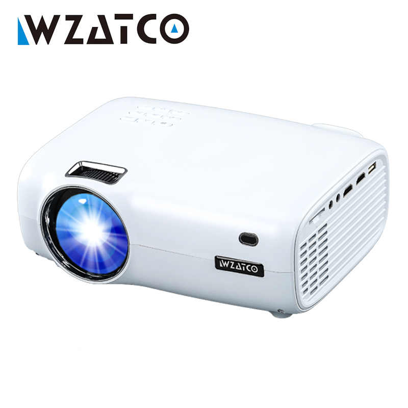 Wzatco CTL80 Android 6 Wifi Smart Portable Mini LED 3D TV Proyektor Mendukung Full HD 1080 P Video 4K home Theater Proyektor Projector