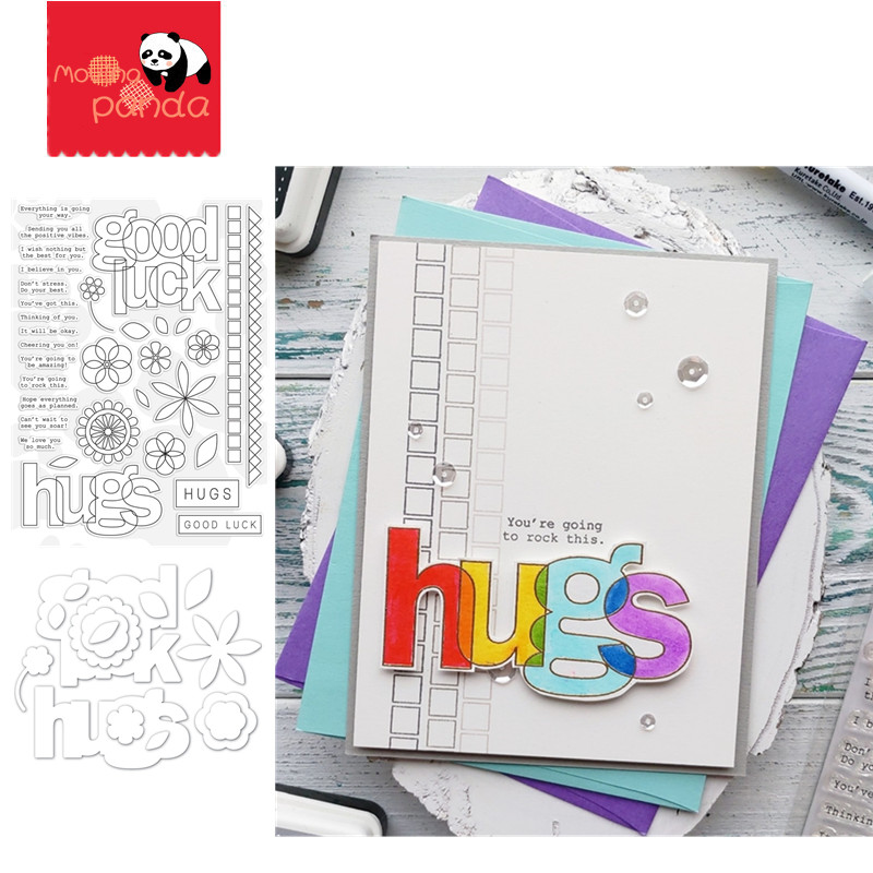 LUCK AND HUGS Metal Cutting Dies And Stamps For Diy Scrapbooking Photo Album Decorative Embossing PaperCard Crafts Die 2020
