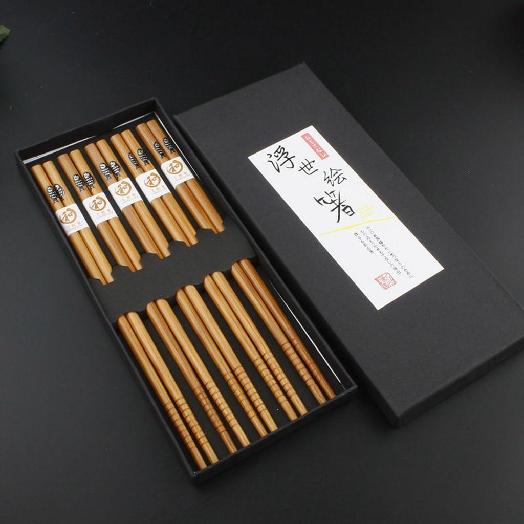 Купить 10 парт/компл многоразовые деревянные палочки для еды xinyun