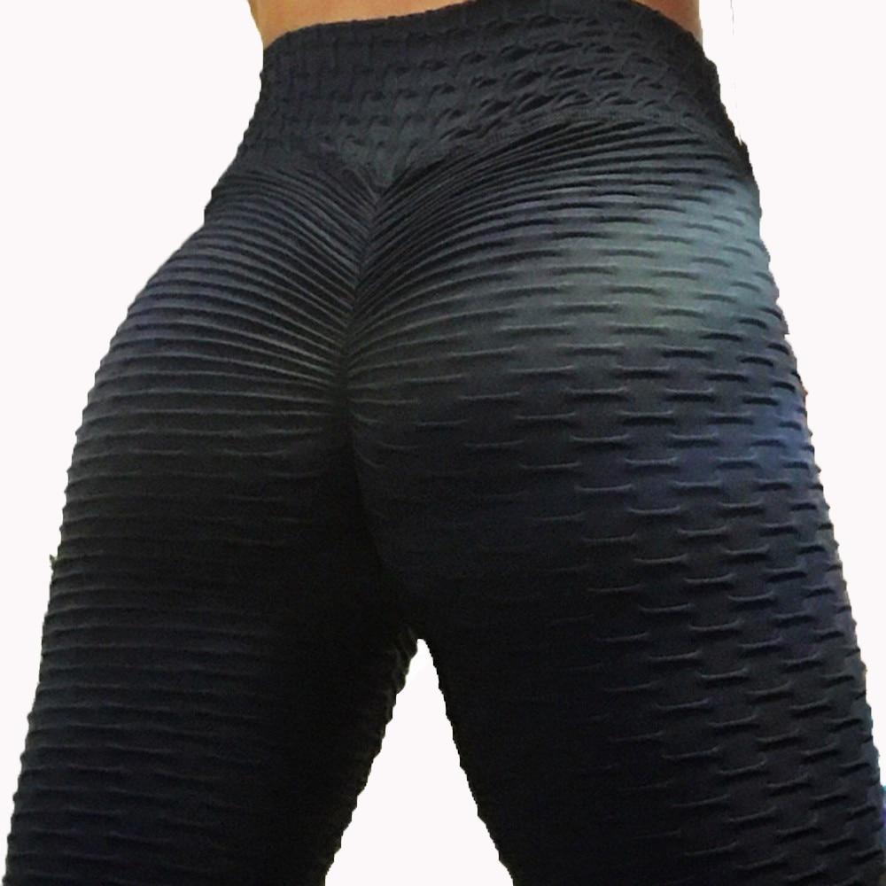 Leggings Push-Up abbigliamento donna Leggings anticellulite Fitness Run Leggins neri Leggings Sexy a vita alta allenamento Jeggings 1