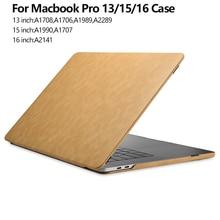 Чехол для Apple Macbook Pro 15 16 A1990 A1707 кожаный чехол для Macbook Pro 13 Чехол 2020 A2338 A2289 A1989 A1708 чехол для ноутбука