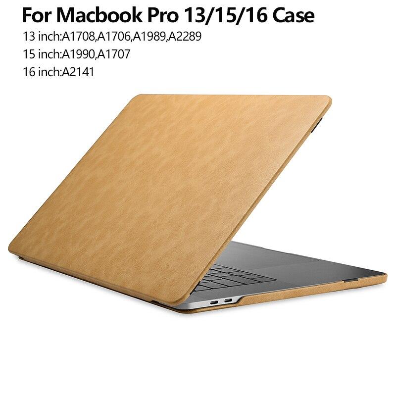 Для Apple Macbook Pro 15 чехол A1990 A1707 кожаный флип-чехол для Macbook Pro 13 Чехол 2020 A2289 A1989 A1708 A1706 чехол для ноутбука 15