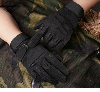 Tactical Full Finger Gloves Outdoor Sports Bicycle Antiskid Gloves Military Army Paintball Shooting Airsoft Cycling Half Glove 6