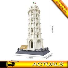 Architektura krzywa wieża w pizie klocki budowlane klocki zabawki kompatybilne 21015 Wange 8012 5214