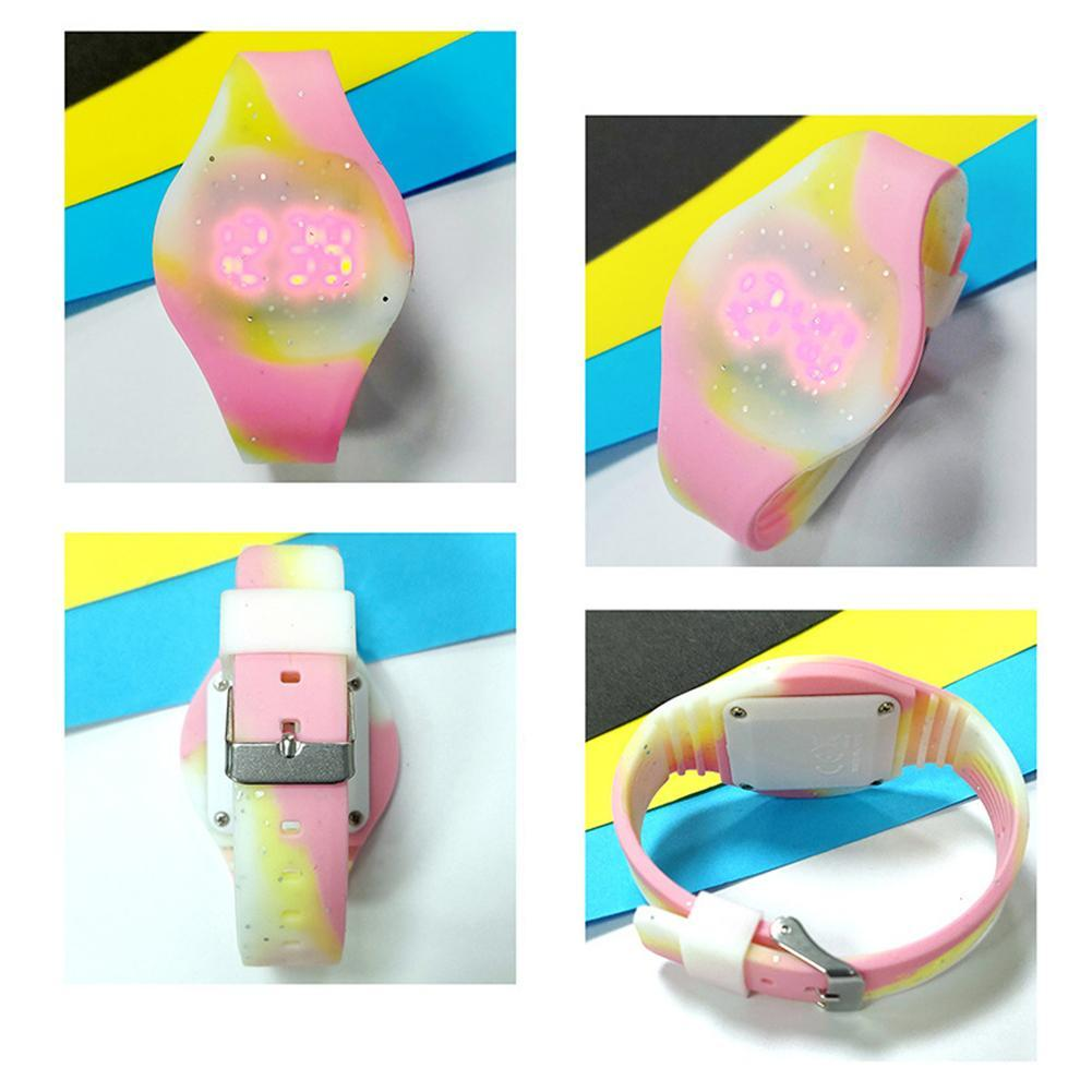 Fashion Children Watch Society Boy White Cat Silicone Girl Jelly Watches Gift Table