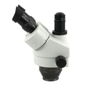 Image 5 - 산업용 스테레오 trinocular 현미경 7x 45x 연속 줌 배율 56 led 링 라이트 pcb 납땜 전화 수리