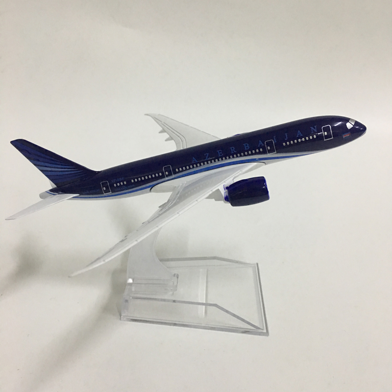 JASON TUTU 16cm Plane Model Airplane Model Azerbaijan Boeing 787 Aircraft Model Diecast Metal Airplanes 1:400 Plane Toy Gift