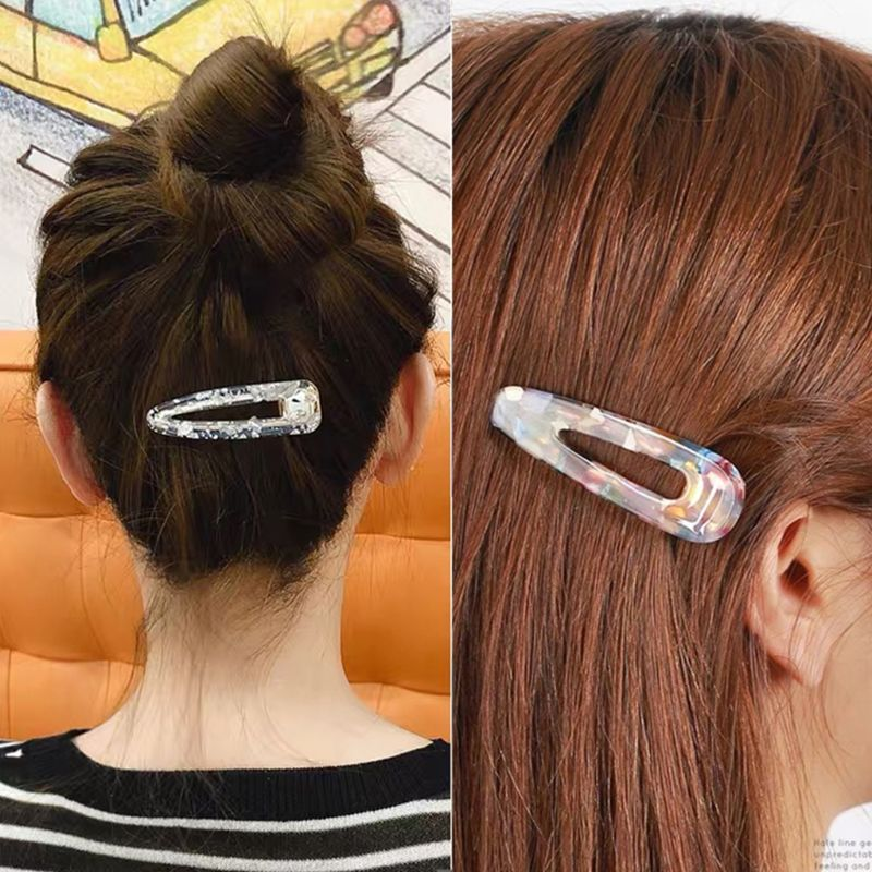DIY Crafts Resin Silicone Epoxy Mold Hair Clip Barrette Mould Jewelry Casting N58F