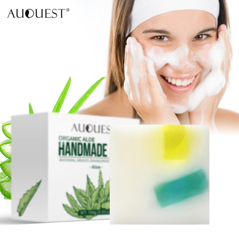 100% Natural Aloe Vera Handmade Soap Autumn &Winter Hydrating Oil Control Face Wash Bath Soap Skin Clean Tool TSLM1