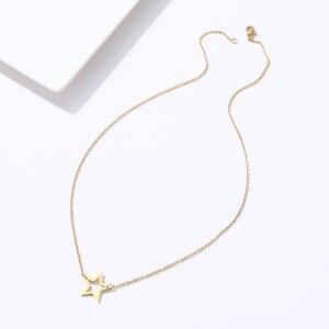 DOTIFI для женщин полая пентаграмма кулон нержавеющая сталь цепочки и ожерелья модные украшения друг подарок T59