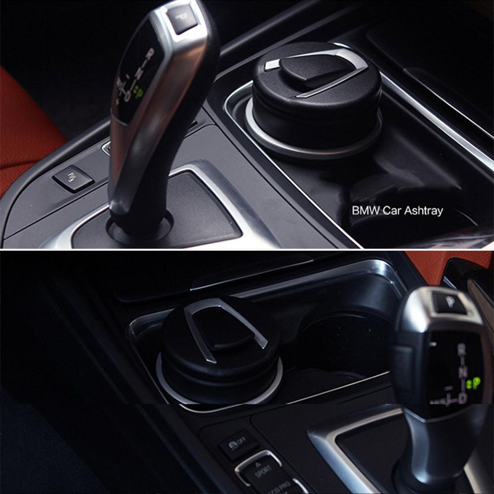 Drop Ship Auto Car Ashtray LED Cigarette Smoke Automotive Multifunction Durable For BMW V-Best