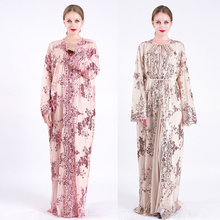 Ramadan Eid Moslim Hijab Jurk Sequin Abaya Kimono Vest Turkije Kaftan Dubai Caftan Jilbab Abaya Islamitische Kleding Voor Vrouwen