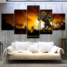 Home Decor Canvas Painting 5 Piece Darksiders 2 Video Game Printed For Living Room Wall Art Modular Picture Frame Artwork Poster