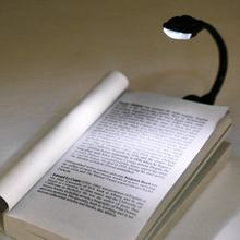 1pcs Mini Flexible Clip-On Bright Book Light Laptop White LED Book Reading Light Lamp Worldwide Drop Shipping Newest Hot Search(China)
