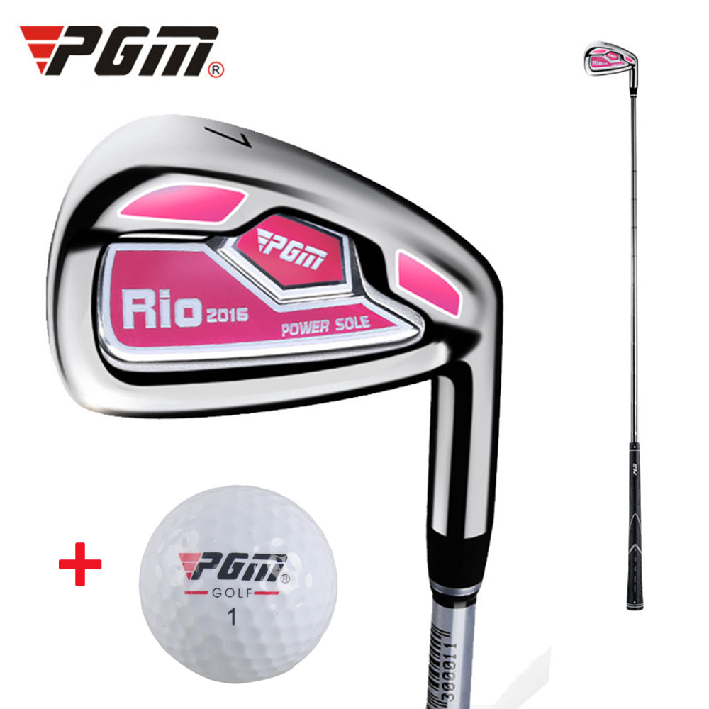 PGM No.7 Golf Club Women's Irons Putter Chip Silver Stainless Steel Carburizing Grinding Push Rod Chipping Training With Ball-in Golf Clubs from Sports & Entertainment
