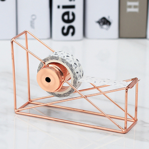 Rose Gold Hollow Tape Cutter Washi Storage Organizer Stationery Office Supplies Tape Dispenser School Supplies Decor Cutters