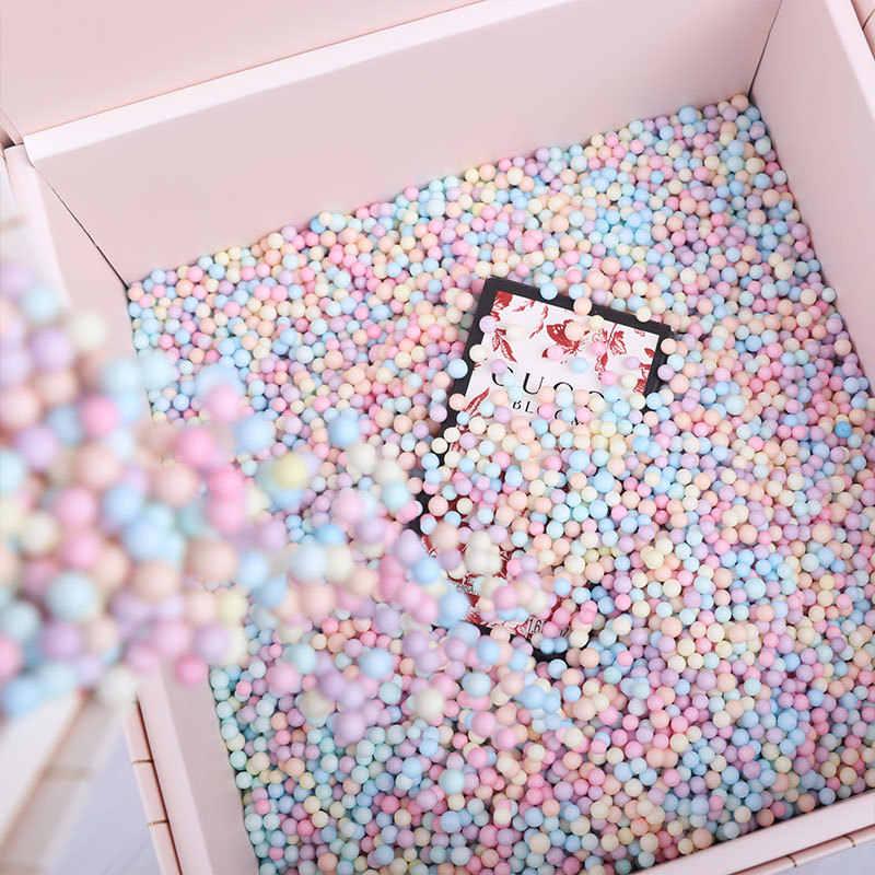 2-4mm Colorato Styrofoam Filler Palle Mini Palle Schiuma Festa Di Natale Decorativo Slime Sfera Forniture FAI DA TE 14000pcs