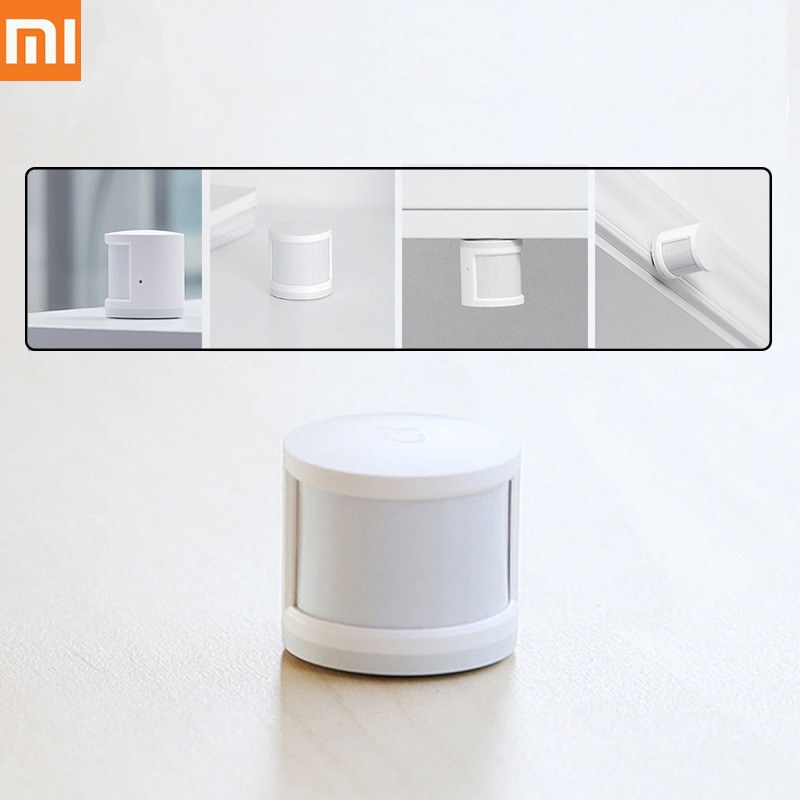 Original Xiaomi Mijia Portable Human Body Sensor Zigbee Connection Mi Home App Smart Body Movement Motion Sensor For Home Safety