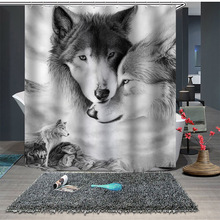 Animal Shower Curtain Printing Polyester Waterproof Shower Curtain Waterproof Modern Bathroom Shower Curtain