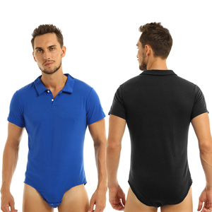 Image 2 - iEFiEL Adult Babies Tops Mens Lingerie Shirts AB Role Players Turn down Collar Crotch Jockstraps Shirt Bodysuit for Custom