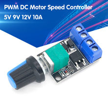 Alta linearidade 5v 9v 12v 10a pwm dc controlador de velocidade do motor led dimmer escurecimento módulo ajustável regulador de velocidade interruptor de controle