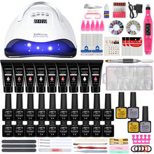 Nail set UVNail lamp nail drying and Electric Nail Drill Gel Polish Kit 15ml Quick Building Nail Gel Extension Poly Nail Art kit