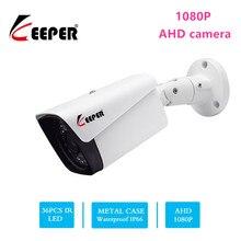 Guarda hd 1080 p 2mp ahd câmera de segurança ao ar livre à prova dwaterproof água disposição visão noturna infravermelha bala metal cctv vigilância analógica