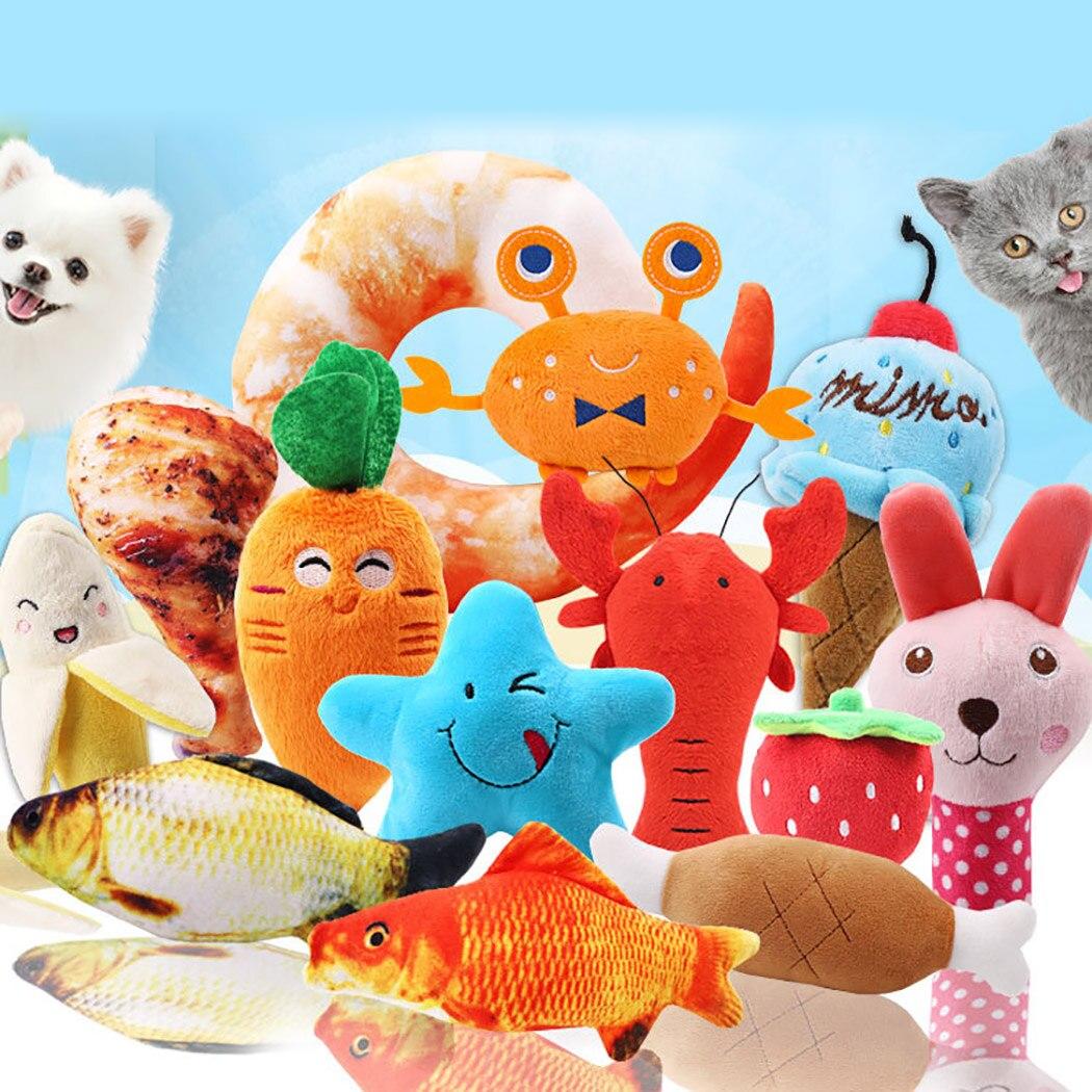 1 шт., плюшевая игрушка-пищалка для собак-1