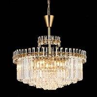 Post Modern LED Gold Crystal Chandelier Lighting for Living Room Bedroom Kitchen Dining Hall Lamp Hotel Decor Light