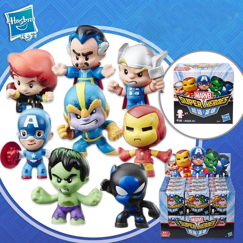 Hasbro 24/PCS Marvel Mini figurine super-héros aveugle boîte série Iron Man beauté équipe et autre jouet de mode pour enfants cadeau