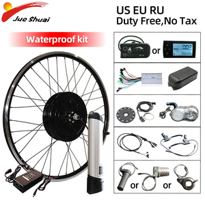 Duty Free 36V 250W-500W Electric Bike Kit Brushless Hub Motor 20inch-29inch 700C Front Wheel Electric Bicycle Conversion Kit LCD