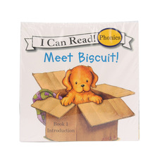 12Pcs/set 13x13cm Biscuit Dog Picture Book Children Baby Kids English Learn Words Tales Series Educational Reading Book