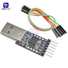 Diymore-módulo conector CP2102 USB 2,0 a UART TTL Serie 6, convertidor de PIN con Cable Dupont de 5 pines para Arduino