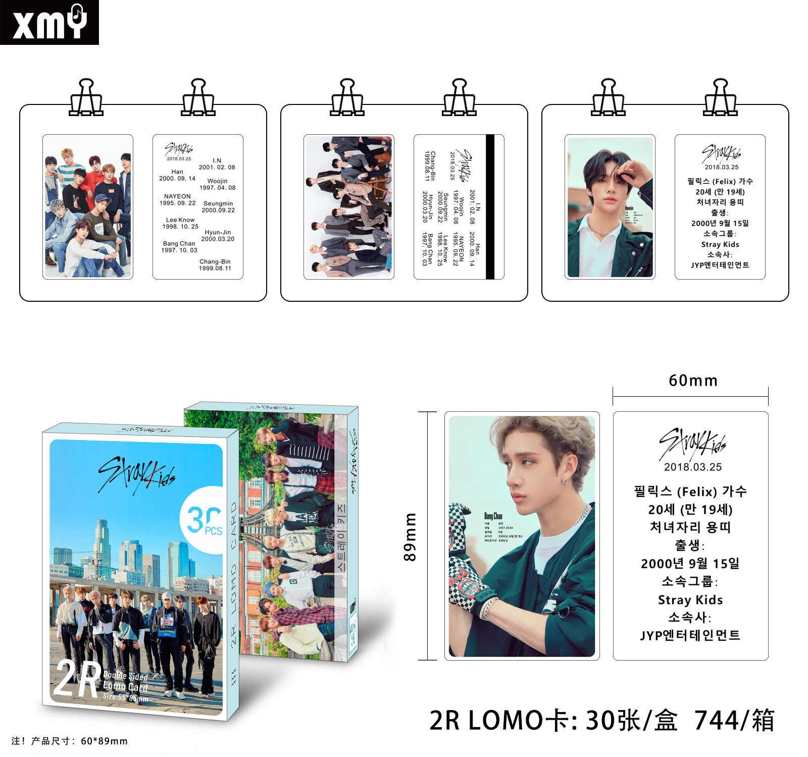 30 Cái/bộ Kpop Đi Lạc Trẻ Em Đôi In Signture Photocard Chất Lượng Cao X1 Astro Blackpink Album Poster Kpop Lomo Card
