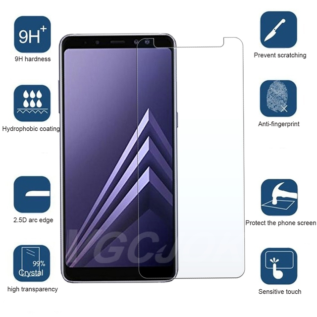 9D Protection Glass For Samsung Galaxy A6 A8 J4 J6 Plus 2018 J2 J8 A7 A9 2018 Tempered Screen Protector Safety Glass Film Case 2