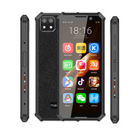 Melrose Android 4G Mini Smartphone 3.5 inch Small Size with Face Recognition and Fingerprint, Backup Mobile Phone with Wifi GPS