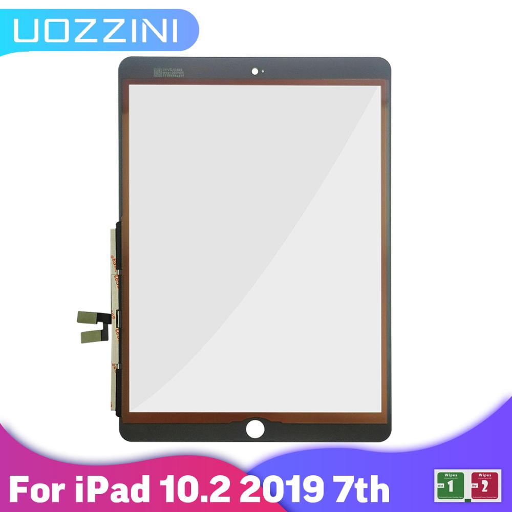 100% Tested For iPad 7 10.2 2019 7th Gen A2197 A2198 A2200 Touch Screen Digitizer Outer Glass Panel Replacement No/With Button