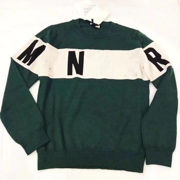 2020 New Fahsion Spring Boys Sweater Letter Printed Green White Knitted Girls Top Brand For Girls Clothing Outwear 90-150cm
