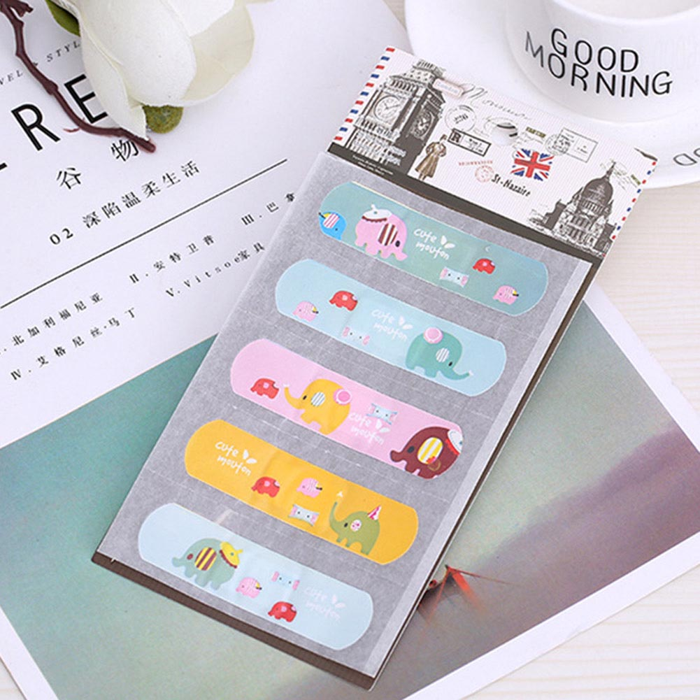 Cute Waterproof PVC Band Aid Bandage Sticker Baby Kids Care First Band Aid Travel Emergency Kit
