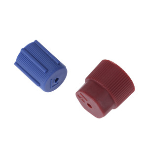 Image 5 - Yetaha Car A/C 3/8 7/16 Straight Adapters R12 R22 To R134a With Removable Valve Core & Service Port Caps