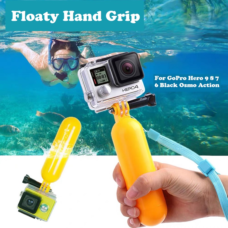 Floating Hand Grip Handle Mount Float accessories for Go Pro Floaty GoPro Hero 9 8 7 6  Yi 4K Eken SJCAM Osmo Action Camera-3