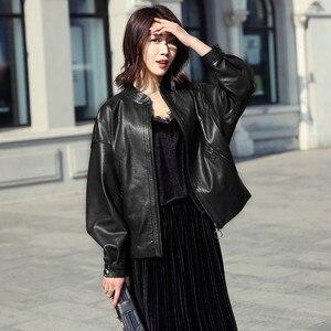 Image 2 - AYUNSUE gerçek deri ceket 2020 bahar sonbahar ceketi kadınlar 100% hakiki koyun derisi ceket kadın bombacı ceketler Chaqueta Mujer benim