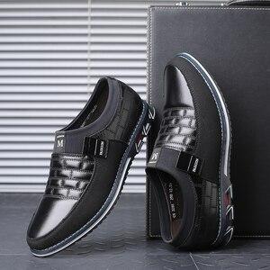 Image 4 - עור גברים נעליים יומיומיות 2019 מותג Mens ופרס מוקסינים לנשימה להחליק על שחור נהיגה נעלי גדול גודל