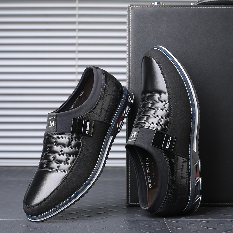 Image 4 - Leather Men Casual Shoes 2019 Brand Mens Loafers Moccasins Breathable Slip on Black Driving Shoes Big SizeMens Casual Shoes   -
