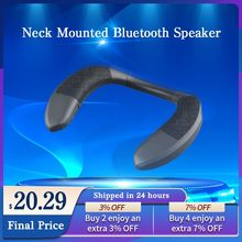 ANKEFACE Bluetooth Neck Speaker Column Wireless Speaker Bluetooth 5.0 With Bass FM Radio SD Card Slot With Microphone For Game