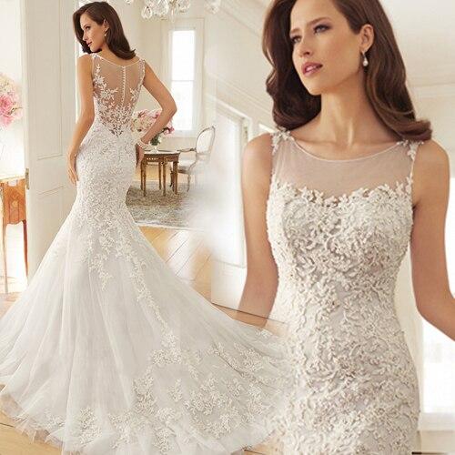 Romantic Lace Appliques New Fashionable Sexy Vestido De Novia Casamento Bridal Gown Mermaid 2020 Mother Of The Bride Dresses