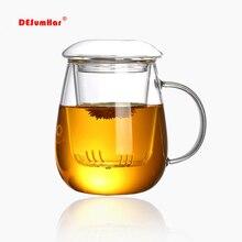 Чайная кружка в китайском стиле с фильтром с крышкой 550 мл. Кофейные чашки чайный набор кружки Пивной Напиток офисная кружка прозрачная посуда для напитков стеклянная чашка